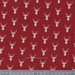Coton cerfs rouge foncé