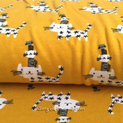 Jersey bio chats perchés jaune orangé