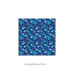 Lycra hexagrid bleu
