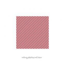 Lycra rayé diagonales blanc/rouge