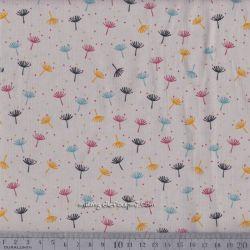 Velours milleraies dandelions gris/beige