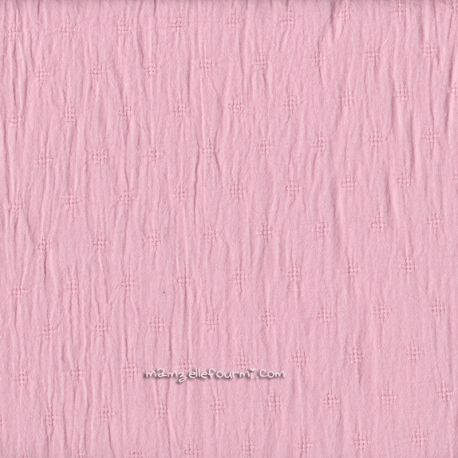 Batiste brodée rose