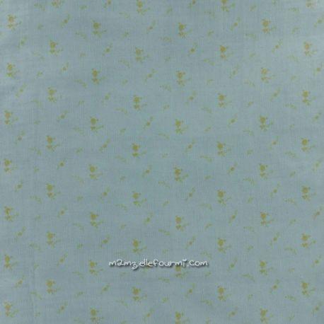 Double gaze vert-de-gris fleurs or