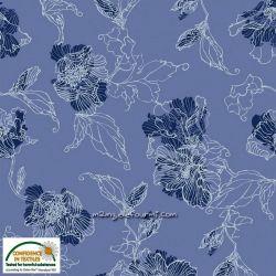 Sweat/molleton fleurs lilas