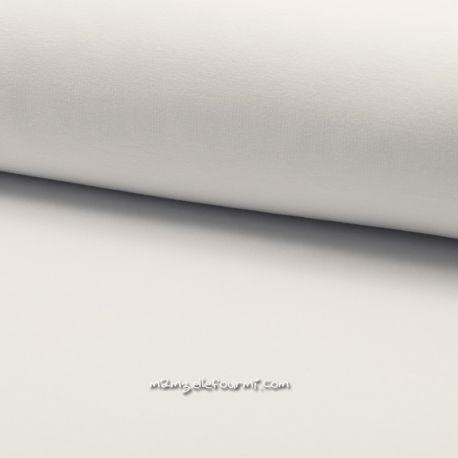 Molleton stretch blanc