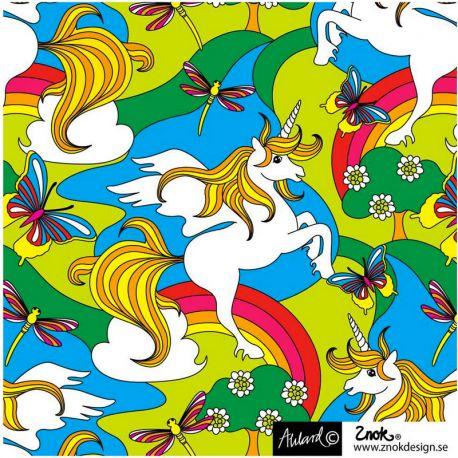 Jersey bio unicorn multicolore