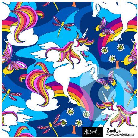 Jersey bio unicorn bleu