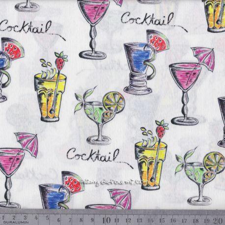 Satin de coton cocktail