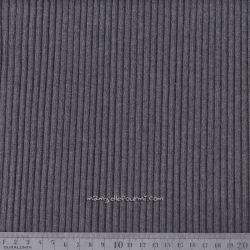 Bord-côte grosses côtes gris chiné foncé