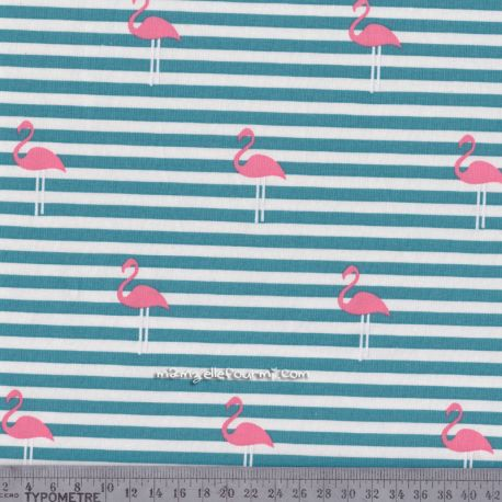 Jersey flamingo stripes pétrole