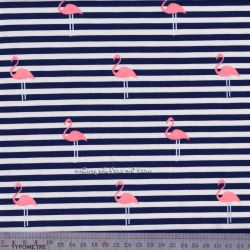 Jersey flamingo stripes navy