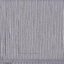 Seersucker rayé gris foncé