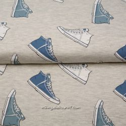 Jersey sneakers bleu