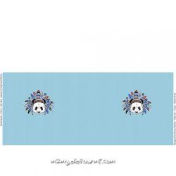 Jersey panneau indian panda bleu