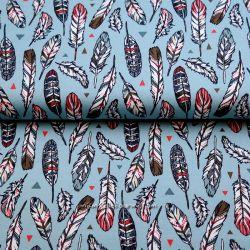 Jersey indian plumes bleu