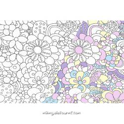 Jersey magique fleurs