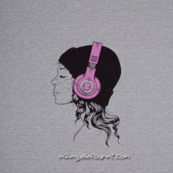 Panneau sweat headphones rose