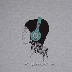 Panneau sweat headphones vert
