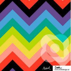 Jersey bio zigzag rainbow