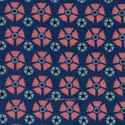 Popeline bio fleurs d'hiver