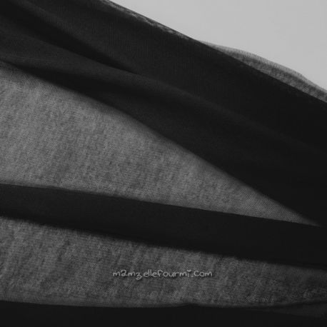 Tulle coton bio noir