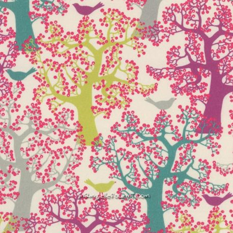 Popeline bio forêt