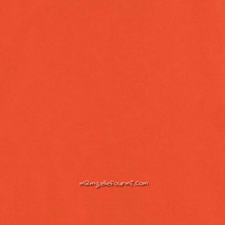 Popeline bio unie mandarine red