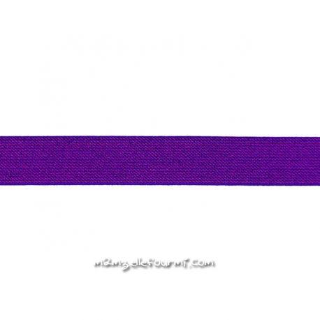 Élastique 25 mm glitter violet