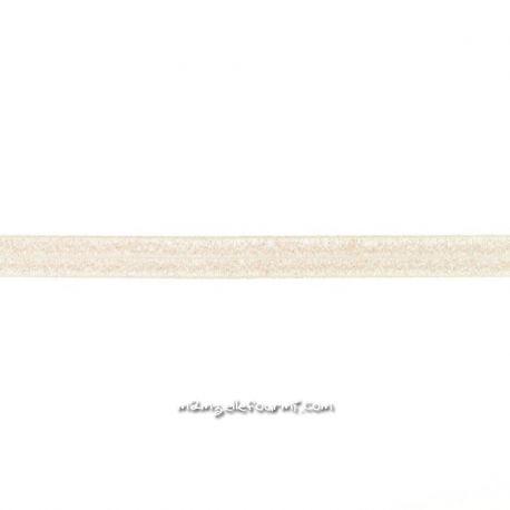 Biais élastique préplié scintillant sable-20mm