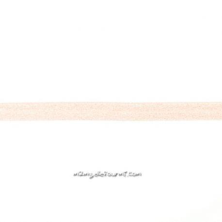 Biais élastique préplié scintillant champagne rosé-20mm