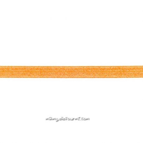 Biais élastique préplié scintillant orange-20mm