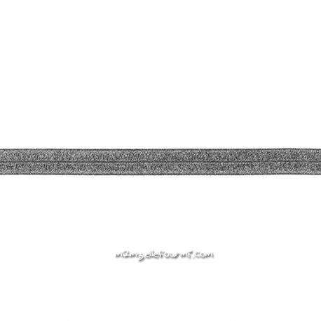 Biais élastique préplié scintillant navy-20mm