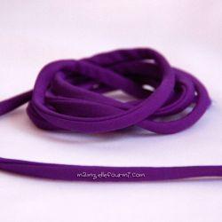 Cordon lycra violet