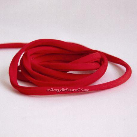 Cordon lycra rouge