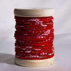 Passepoil petites pivoines rouge