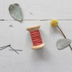Passepoil crêpe terracotta