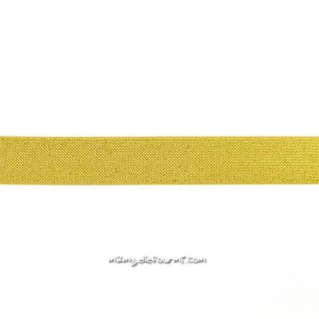 Élastique 25 mm glitter or