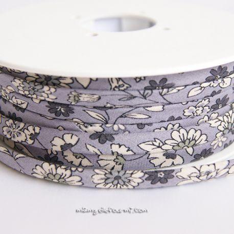 Cordon Frou-Frou fleuri violet sage