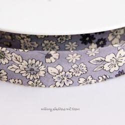 Biais Frou-Frou fleuri violet sage