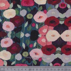 Viscose fleurs impressionistes