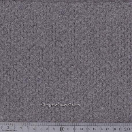 Jersey texturé chiné anthracite