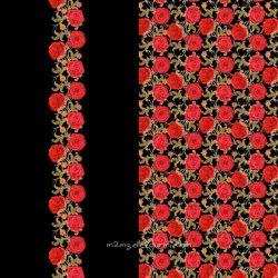 Panneau jersey digital roses rouges