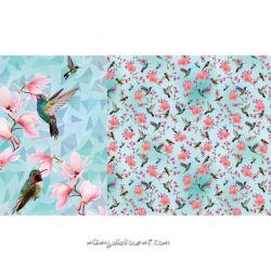 Jersey panneau digital oiseaux