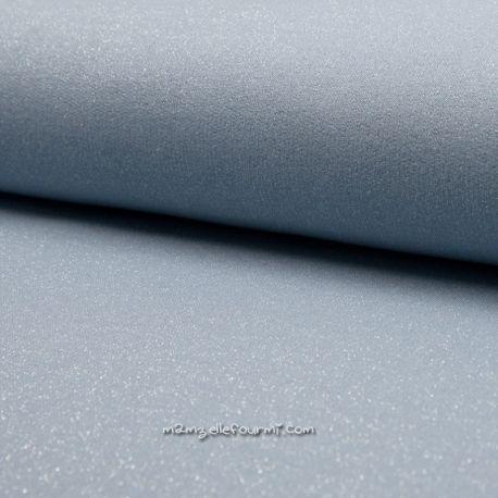 Molleton lurex bleu clair
