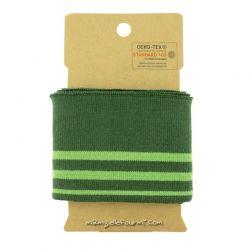 Bord-côte rayé vert/vert