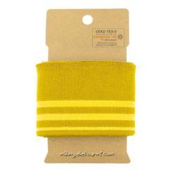 Bord-côte rayé ocre/jaune