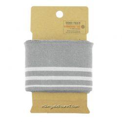 Bord-côte rayé gris/gris
