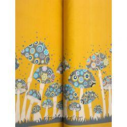Jersey bordure champignons moutarde