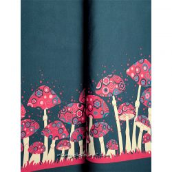 Jersey bordure champignons gris/bleu