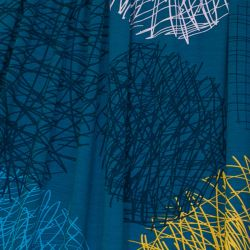 Jersey modal bubbles bleu